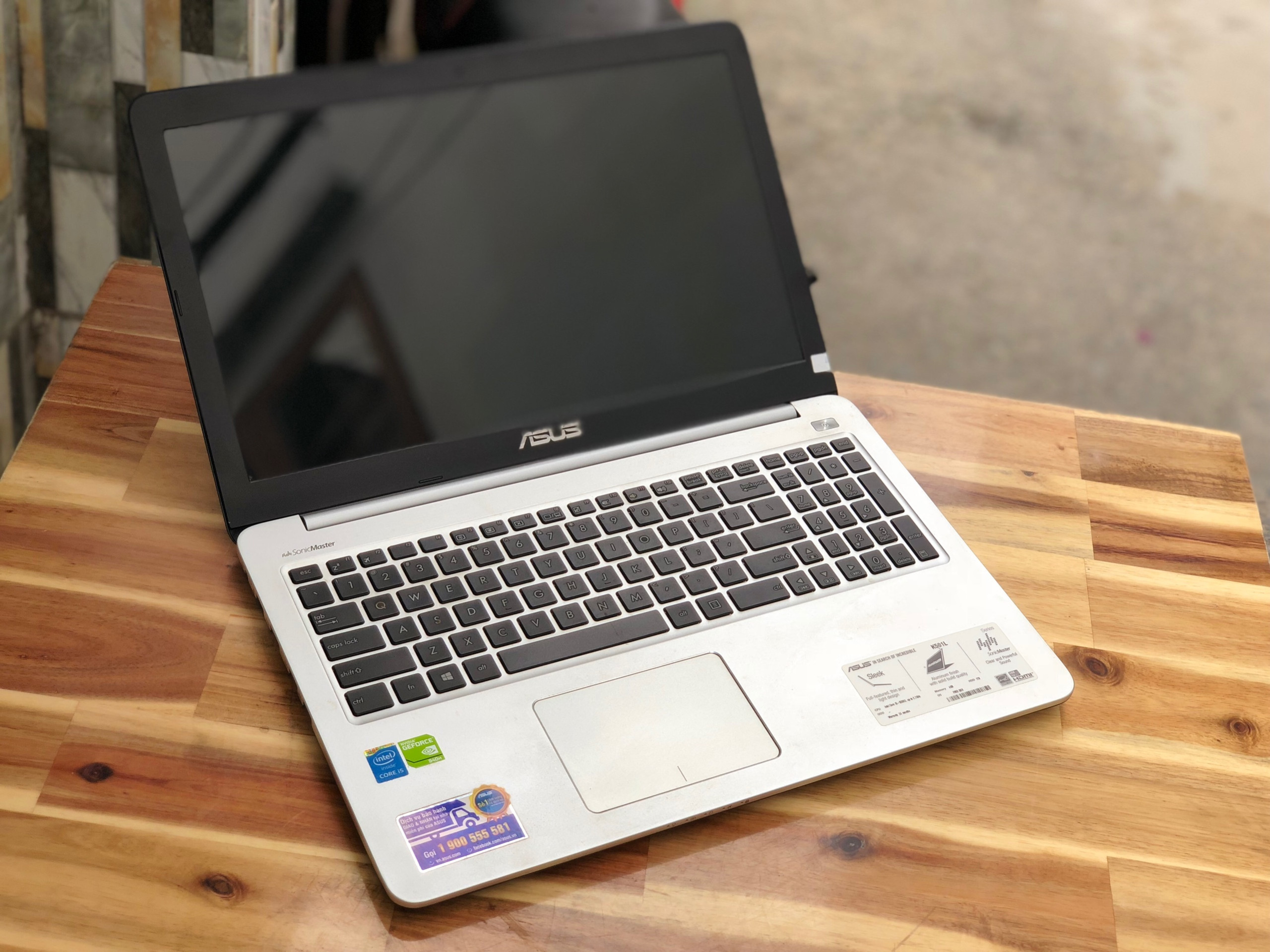Laptop Asus K501LB, i5 5200U 4G 1000G Vga 940M Full HD Like new Giá rẻ2