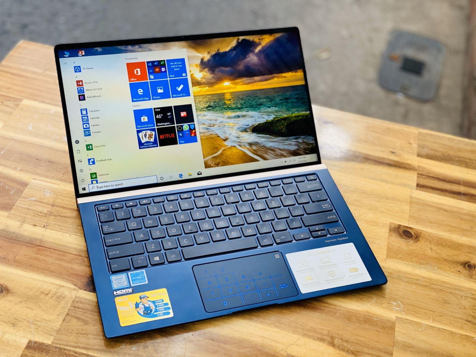 Laptop Asus Zenbook UX433FA, I7 8565U 8CPUS 8G SSD512 Full HD FaceID L